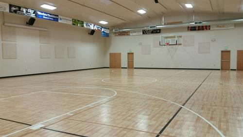 View of our gym from gym entrance doors