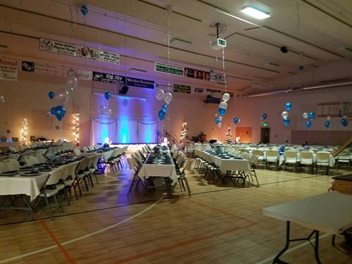 "Annual Fundraiser Dinner Gym Layout ""Winter Wonderland"""