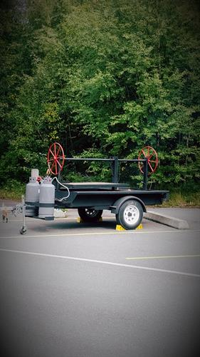BBQ trailer, call for quote!