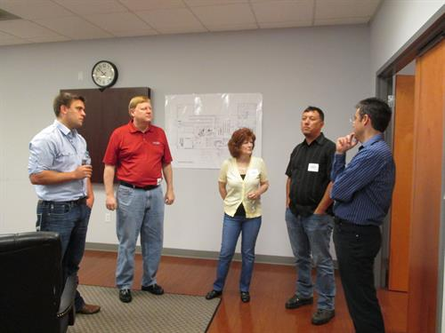 Steve meeting with clients Monogram Foods in Martinsville, VA
