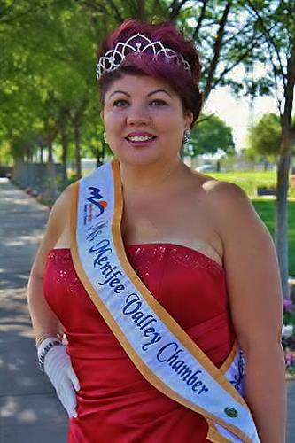 """Ms. Menifee Valley Chamber of Commerce 2011, which is where Sash gets her nickname; crown and """"sash""""."""