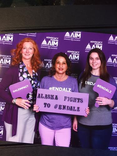 Alzheimer's Alaska Advocates in Washington D.C.