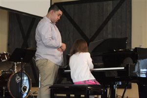 Student performing at the Spring 2019 Recital