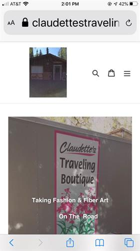 website claudettestravelingboutique.com