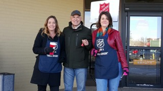 Bell Ringing for Salvation Army. We love our Community!