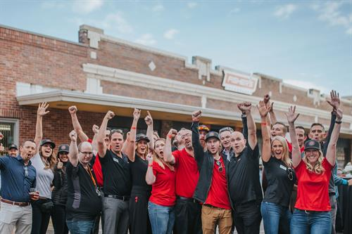 Fisher's Idaho Falls Team at Grand Re-Opening Event in 2018