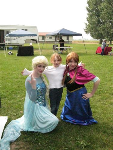 A Snow Queen and her Loving Sister make one girl's day!