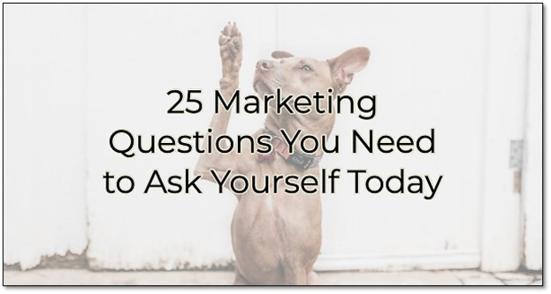 Image for 25 Marketing Questions You Need to Ask Yourself Today