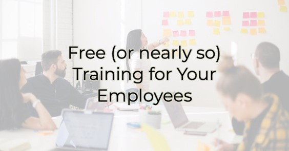 Image for Free (or nearly so) Training for Your Employees