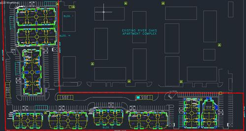 Landscape plan for apartment complex.