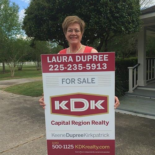 Our sponsoring broker, Laura Dupree.  She has 40 years of real estate experience.