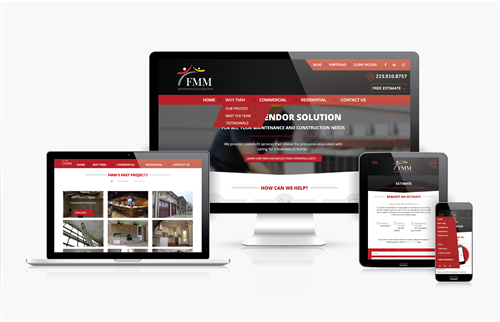 Fully Responsive Website Design for Facilities Maintenance Management