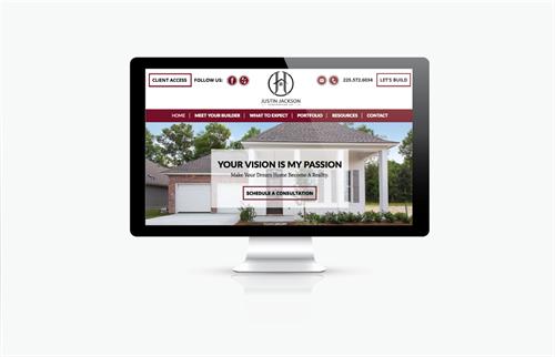 Custom Website Design for Local Homebuilder, Justin Jackson Construction