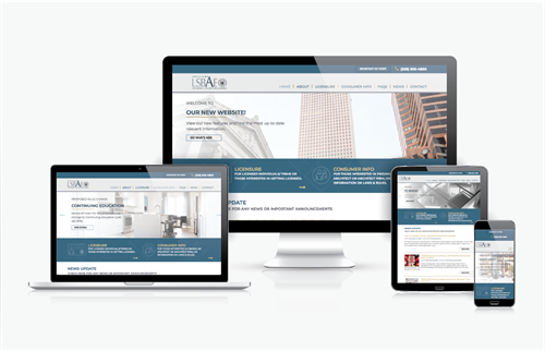 Fully Responsive Website Design for The Louisiana State Board of Architectural Examiners