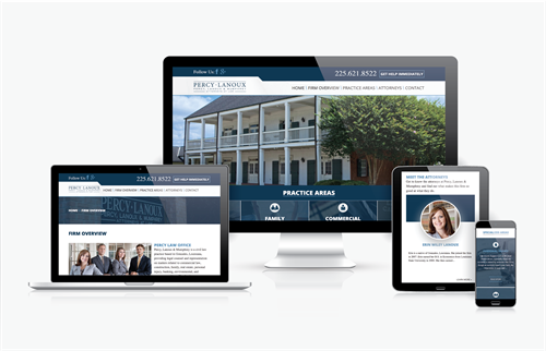Fully Responsive Website Design for Percy Lanoux & Mumphrey Law Firm.