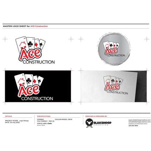 ACE Construction Custom Logo Design