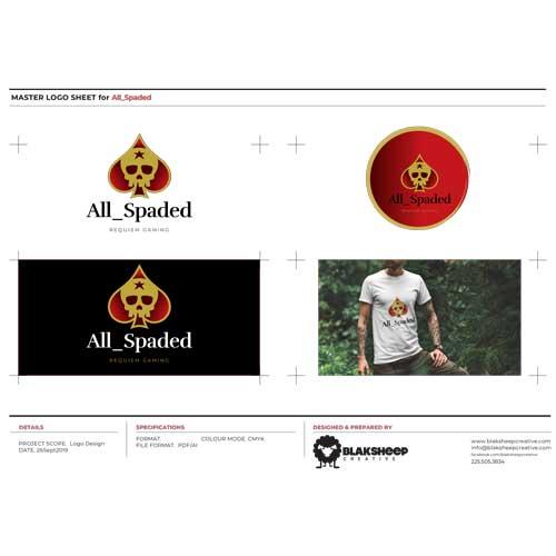 All Spaded Custom Logo Design