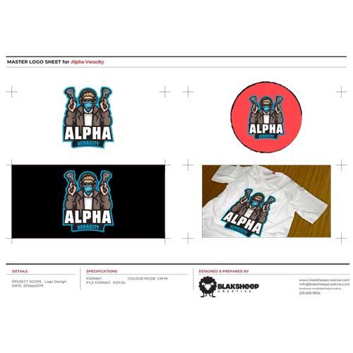Alpha Veracity Custom Logo Design