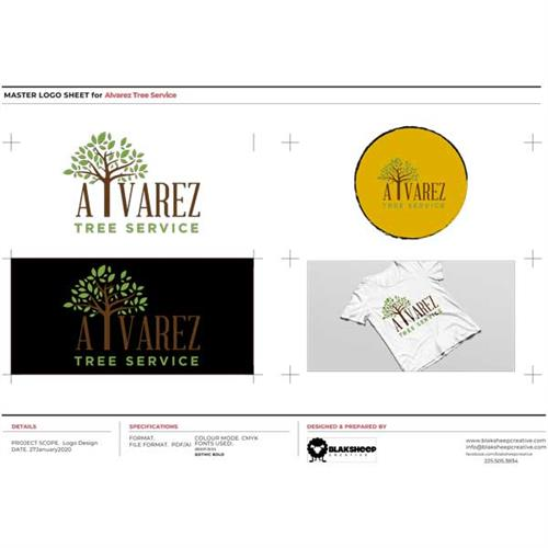 Alvarez Tree Service Custom Logo