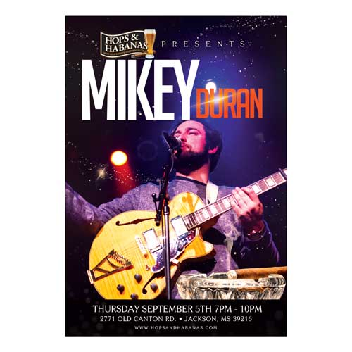 American Idol Contestant Mikey Duran Concert Poster