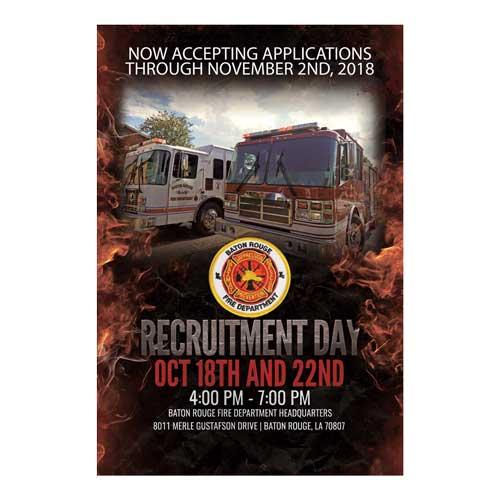 Baton Rouge Fire Department 2018 Recruitment Flyer