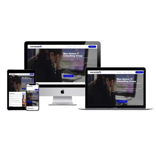 Blue Meteor IT Houston Website Design