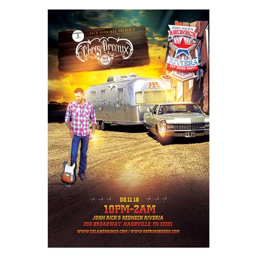 Chris Breaux and Six String Rodeo Redneck Riviera Concert Poster