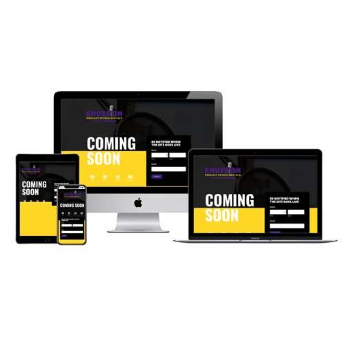 Envision Podcast Studio Rentals Website Development (Still in Development)