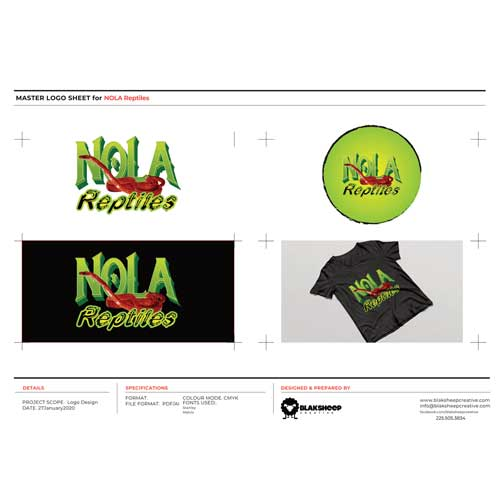 NOLA Reptiles Custom Logo Design