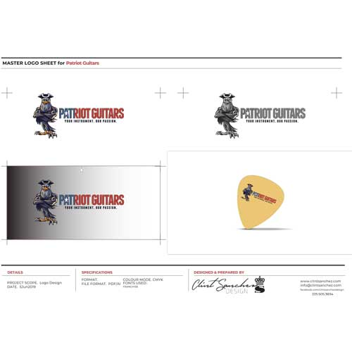 Patriot Guitars Custom Logo Design