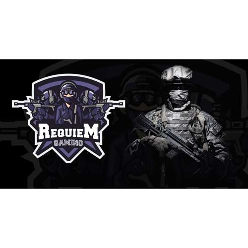 Requiem Gaming Custom Logo Design