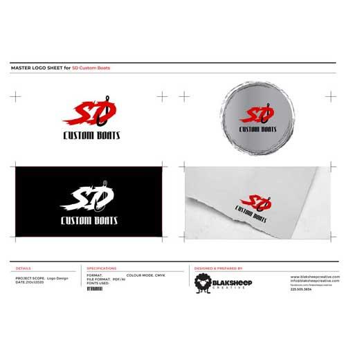 SD Custom Boats Custom Logo Design