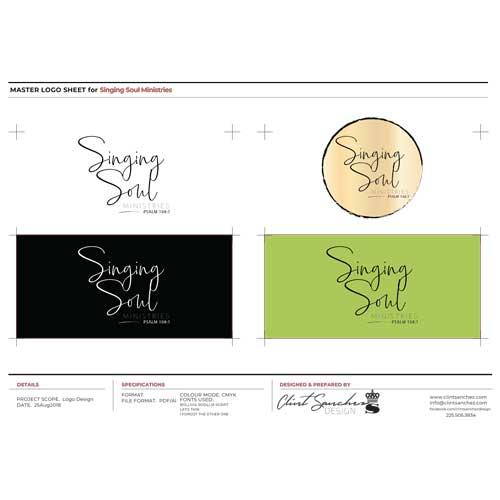 Singing Soul Ministries Custom Logo Design