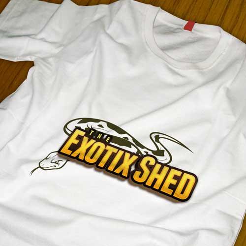 The Exotix Shed Custom Logo Design and TShirt