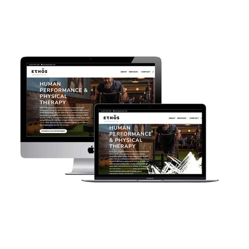 Ethos Physical Therapy Central Website Design