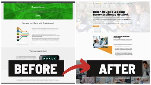 iTradexchange Website Redesign Before and After