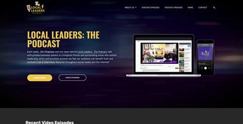 Local Leaders:  The Podcast Website Redesign