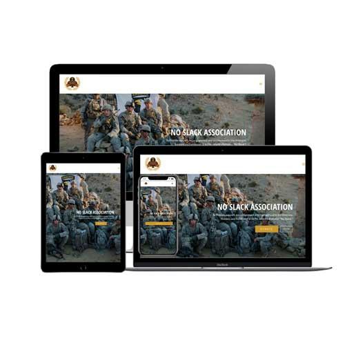 No Slack Association Website Design
