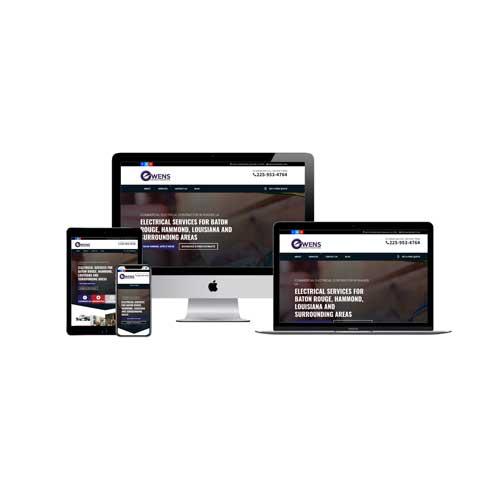Owens Electrical Contractors Walker, LA Website Design and SEO