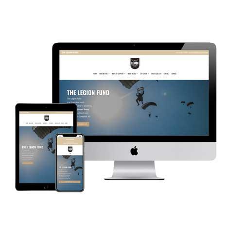 The Legion Fund Veteran Charity Nonprofit Website Design