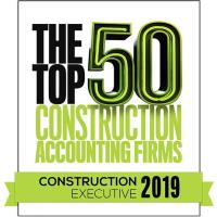 Construction Executive Magazine Names LaPorte one of 'Top 50 Construction Accounting Firms' for 2019