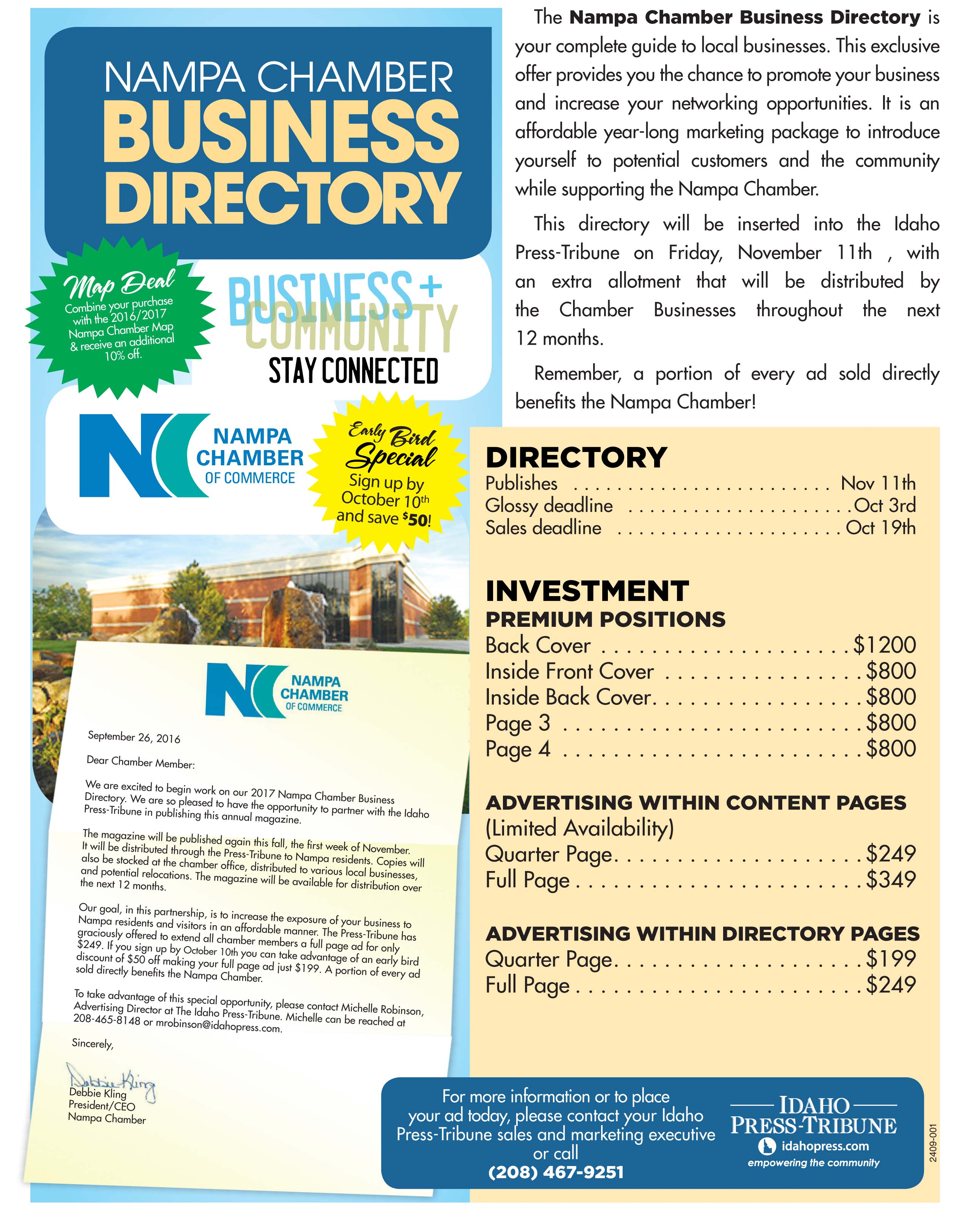 Nampa Chamber Business Directory - Deadline Approaching