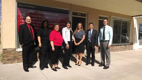 Nampa and Payette staff members attend Payette office ribbon cutting on May 7, 2014