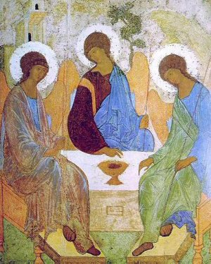 Old Testament Trinity by Andrey Rublev (1408-25)