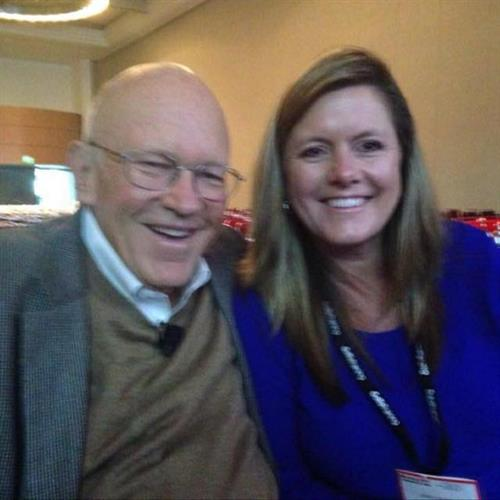 Jamie Chapman with her mentor, Dr. Ken Blanchard at World Training Summit  www.coachingcrossroads.com/meet-the-team