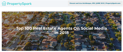 Top 100 Real Estate Agents on Social Media in 2018