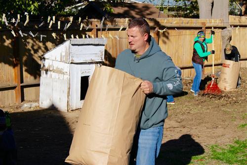 Pastor Ryan at Rake-Up Nampa 2015.