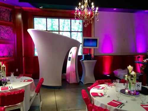 Our photo booths are classy, elegant and fit in with any decor whether it is a casual or formal event.