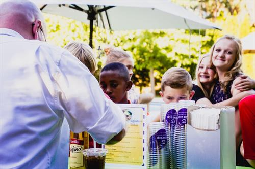 Our Portable Soda Bar serving at a Wedding
