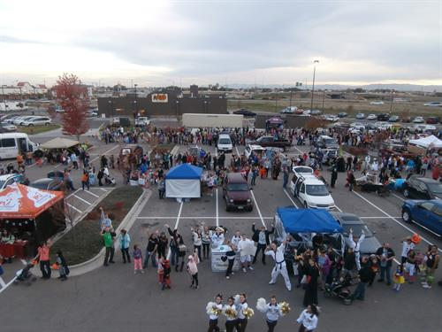 Over Head view of Trunk or Treat 2014